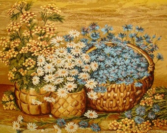 Russian tapestry ,picture, textilart, home decoration, for wall, flowers, russian art