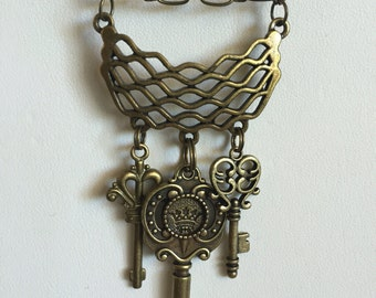 N0013-74 Steampunk necklace