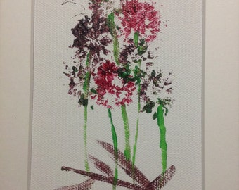 Original Organic Painting made with flowers, branches and fruit by Barry Pase #6