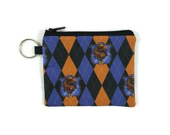 Ravenclaw Coin Purse, Harry Potter Mini Zipper Pouch, Coin Pouch, ID Holder, Card Wallet, Credit Card Holder, Earbud Case, Change Purse