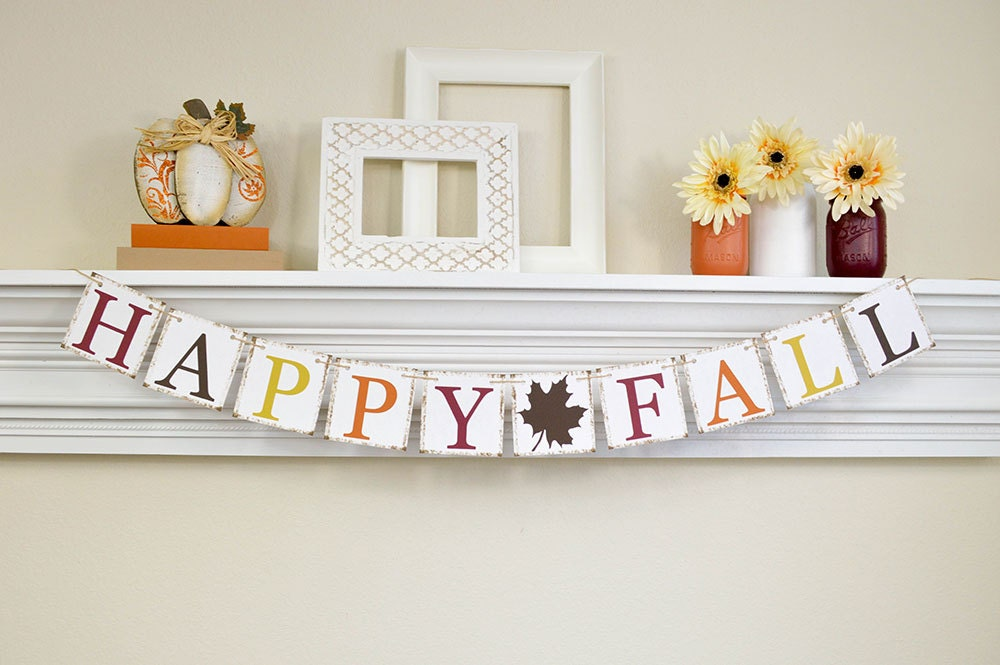 Thanksgiving decoration happy fall autumn decor fall home Happy thanksgiving decorations