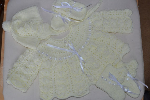 Baby Matinee Set Patons Fairytale 4ply 0-6 months