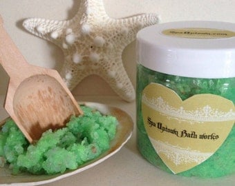 Coconut Lime- Spa Care Foot Scrub- Exotic Butters, Dead sea & Himalayan Salts SPA Uptown NYC 4fl