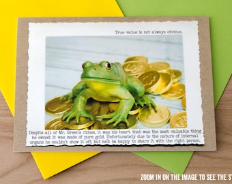 Greeting Card • Funny Frog Card • Fairy Tale Card • Card for Her •Humor Gifts • Frog Prince • Finding Mr Right • Looking for Love • Fable