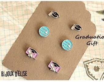 3 Pairs of Follow Your Dreams Post Earrings Stud Earrings sets Graduation Hat Diploma - Student Gift