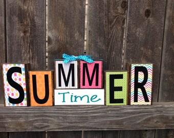 Summer time wood blocks
