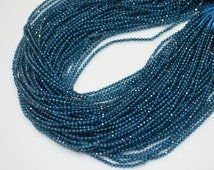 AAA Quality London Blue Topaz Rondelle Micro Diamond Faceted 2 mm Approx. ,London Blue Topaz Beads AAA++ 13 inch Strand