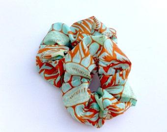 Hair Scrunchies, Set of 2 Fabric Hair Ties