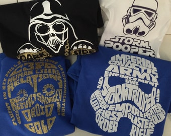 "Personalized shirts ""Star Wars"""