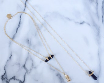 Luca - Triple layered crystal necklace