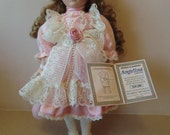 Fine porcelain doll, Angelina collection, year 200O, pre-owned