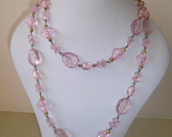 Jewelry, necklace, handmade, one size, purple, pre-owned