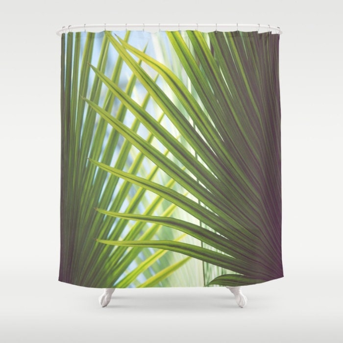 Beach Shower Curtain Palm Tree Shower Curtain Beach Bath