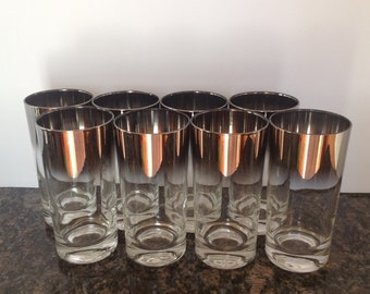 Set of Eight Silver Fade Tumblers