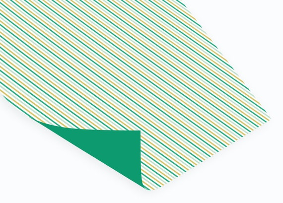 Stripes wrapping paper // Double sided // folded // 50x70 cm