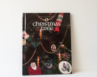 Vintage O Christmas Tree Cross Stitch Book Leisure Arts Publication  1992
