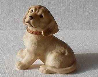 Vintage Homco Golden Lab Puppy Ceramic Figurine