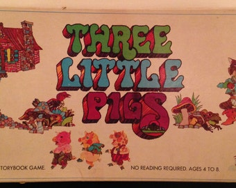 Three Little Pigs Board Game 1971