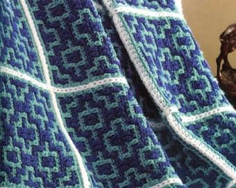 Beginner!  Moroccan Crochet Blanket Pattern, So Easy!