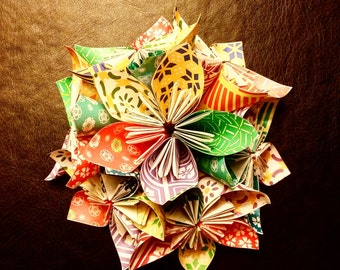"Origami Flower Ornament ""Spring"""