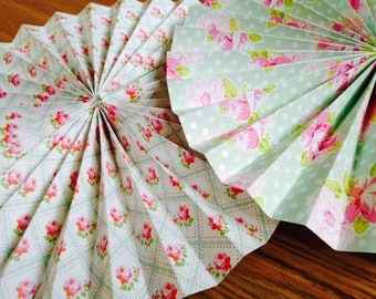 Paper fan pinwheel decorations