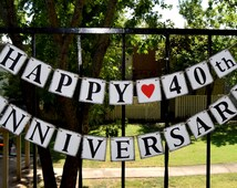 Happy Anniversary Banner - Banners - Congrats Banner  - CUSTOMIZE YOUR date