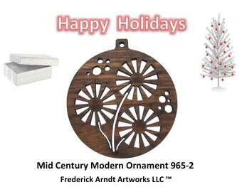 965-2 Mid Century Modern Christmas Ornament