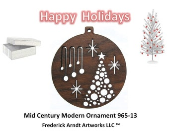 965-13 Mid Century Modern Christmas Ornament