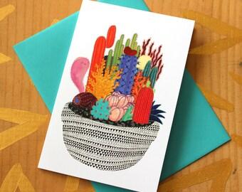 Ghostly Garden Card