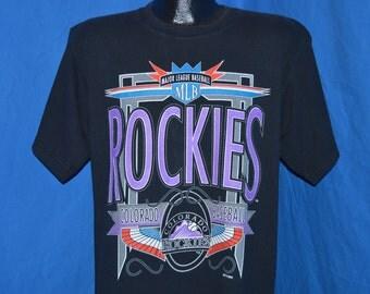 90s Colorado Rockies Neon t-shirt Large