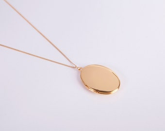 Fine Golden Necklace Medaillon Photo Locket  Tiny Locket Necklace Choose Your Colour Gold