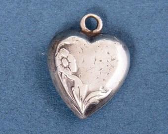 Pendant Silver Heart Art Nouveau Fine Jewelry