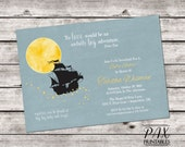 Baby Shower Neverland Invitation - Printable Peter Pan Invites, Baby Shower, Birthday Party - ANY EVENT
