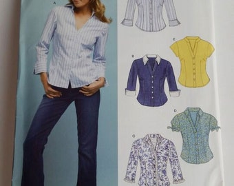 New Look sewing pattern 6407 Misses' Blouse Seven Sizes in One in sizes 10-22