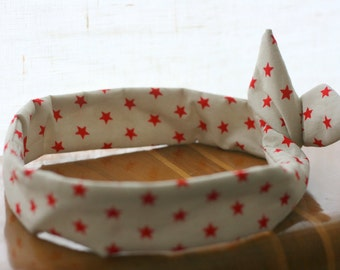 Headband retro-headband red stars
