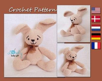 Amigurumi Pattern, Rabbit, Easter Bunny, Crochet Pattern, Animal Toy, CP-105