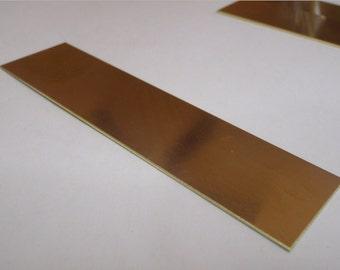 20 gauge brass strip 4 inch by 1 inch