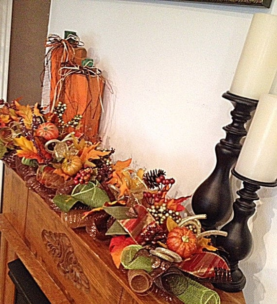 fall mantle arrangement photography - photo #15
