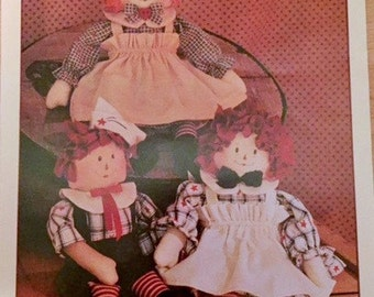 1989 Raggedy Ann and Andy doll pattern