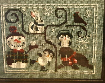 OODLES Of WINTER Bent Creek - Cross Stitch Chart w/ Seed Beads 2014 - BC1118