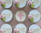 Baptism Favor | 2 Scented 4oz Soy Candles | Baby Girl Baptism | Baby Boy Baptism | Christening Favor