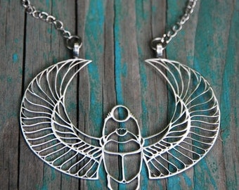 Scarab pendant (1,97 x 2,64) with chain - Stainless Steel