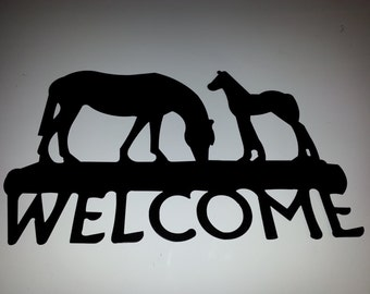 Horse & Pony Welcome Sign