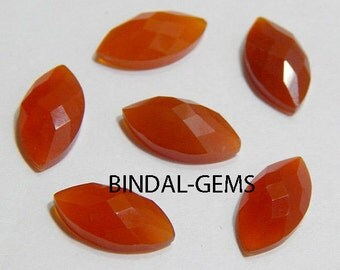 Wholesale Lot 25 Pieces Amazing Red Onyx Marquise Shape Checker Cut Gemstone For Jewelry