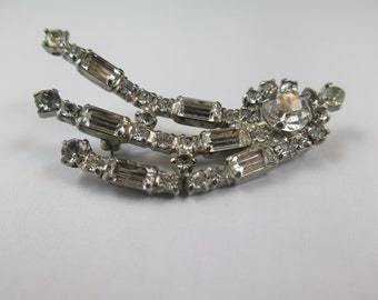 Kramer of New York Rhinestone Brooch