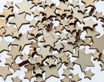 Stars wood veneer | scrapbooking embellishments | craft supplies |wood craft buttons | resin craft embellishment | planet moon stars addon