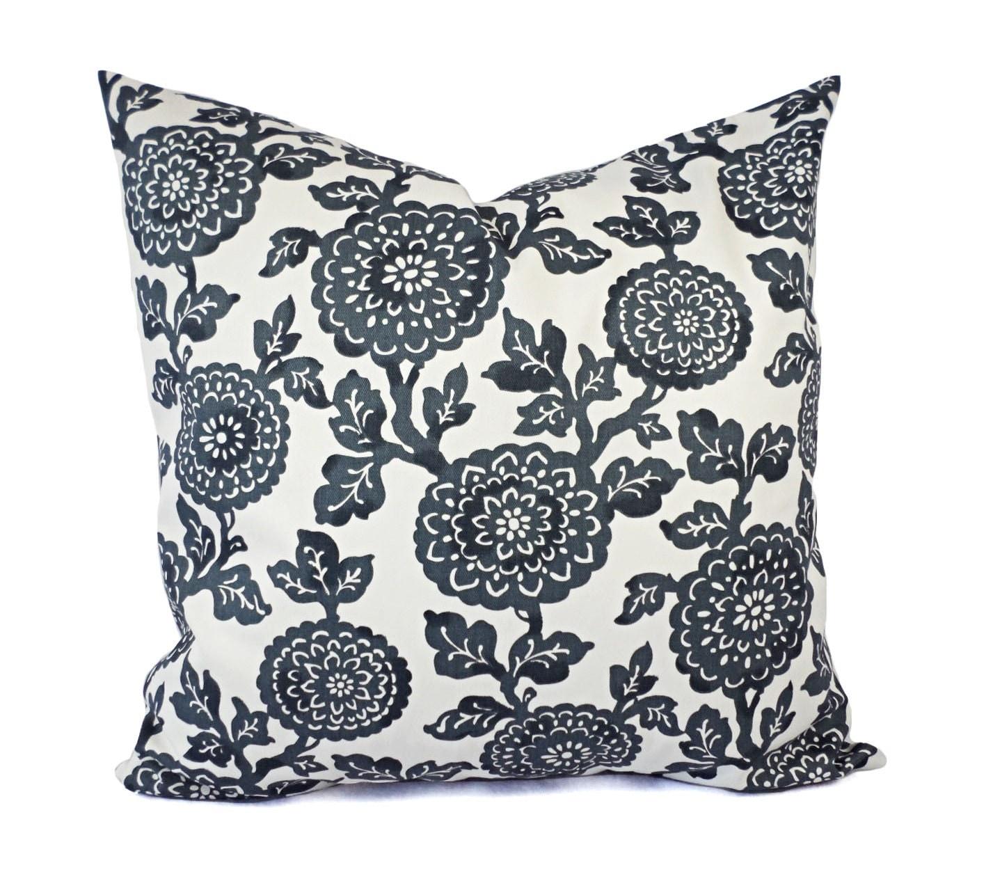 Dark Gray Decorative Pillow : Two Dark Grey Decorative Pillows Grey Throw Pillow Covers