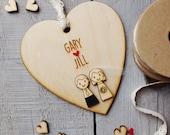 Rustic Personalised Wedding couple heart