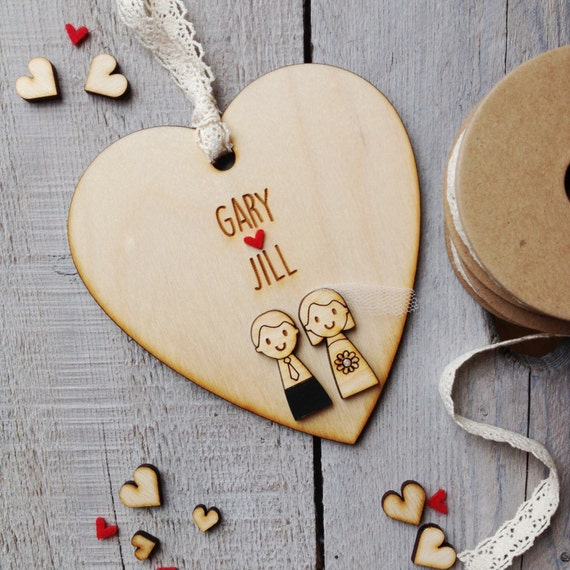 Wedding couple keepsake heart - wedding gift - keepsake gift