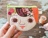 Hello Beautiful Personalized Handmade Coin Purse/ Change Purse/ Mini Wallet - Customized Gift for Girls